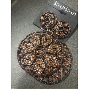 Bebe brown earrings